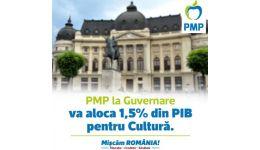 Read more: PMP susține creșterea alocării bugetare pentru cultură la 1,5% din PIB