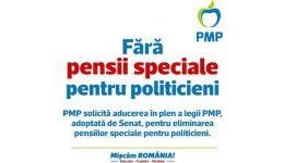 Read more: PMP cere adoptarea în regim de urgenţă a legilor privind  eliminarea pensiilor speciale şi reducerea numărului de parlamentari la 300
