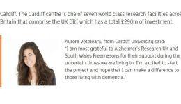 Read more: Aurora Vețeleanu a primit un grant pentru cercetare de 76.000 de lire sterline