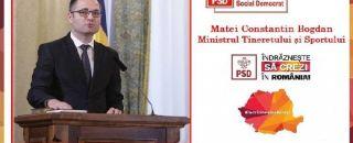 """Un dialog cu Bogdan Constantin Matei, Ministrul Tineretului și Sportului: """"Nu voi pleca niciodată din frumosul meu oraş"""""""